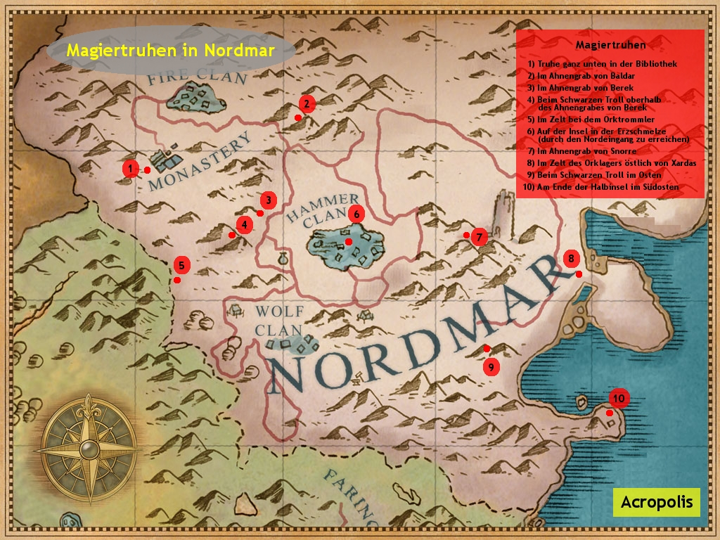 gothic 3 nordmar karte Karten, Tipps & Listen (Achtung Spoiler!)